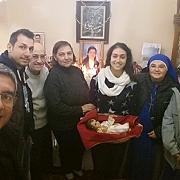 Bezoek met kindje Jezus aan families