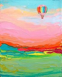 Schilderij met ballon