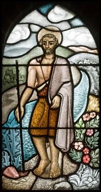 Johannes de Doper glas-in-lood