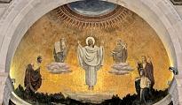 Jezus met Mozes en Elia op de berg Tabor