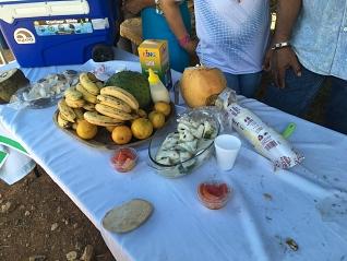 Tafel met Panamees fruit