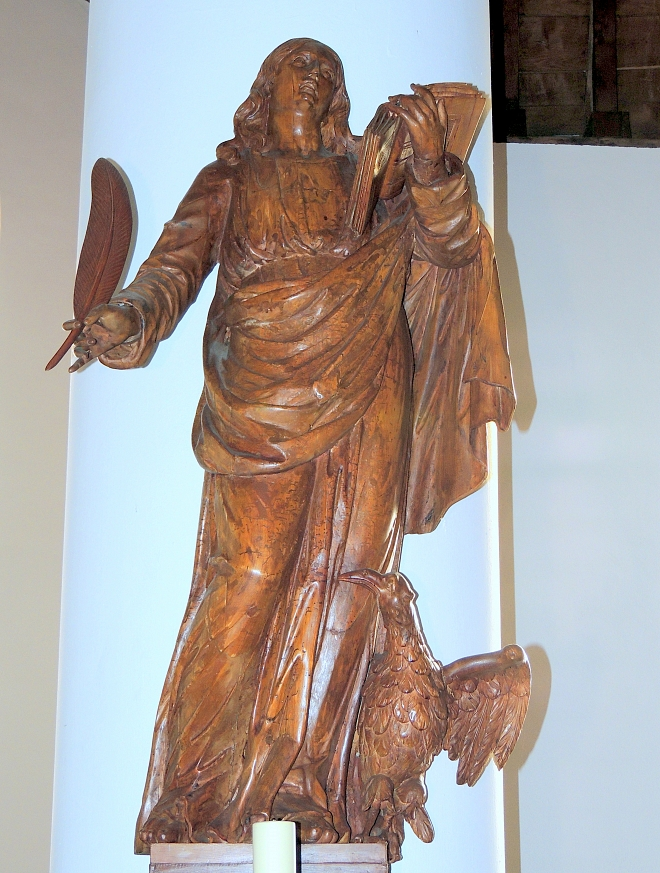 Beeld H. Johannes Evangelist Willibrorduskerk Diessen