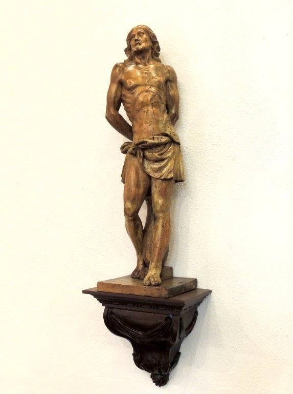Beeld jezus aan de geselpaal Willibrorduskerk Diessen